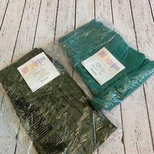 Lularoe Tween Leggings - 2 pair solids Green
